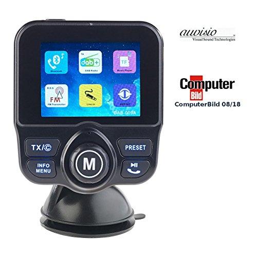 auvisio Freisprechanlage: DAB+/DAB-Empfänger, FM-Transmitter, Bluetooth, Freisprecher, MP3, USB (DAB für Autoradios) - 680 Usb
