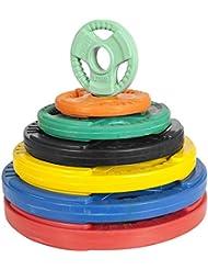 Poids disque 51mm en fonte revêtement caoutchouc de 5kg avec poignée
