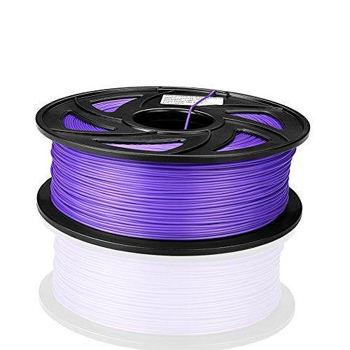 SIENOC 1 Packung 3D Drucker PLA 1.75mm Printer Filament - Mit Spule 1kg (Zusammengesetzt/Violett)