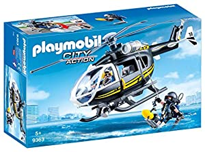 Playmobil- Helicóptero de Las Fuerzas Especiales Juguete, (geobra Brandstätter 9363)