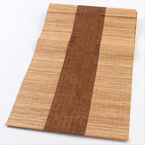 Vorhänge Leinen Rustikal (Tischläufer Japanischen Stil Tisch Dekor Bambus Tischläufer Matte Tee Vorhänge Multi-size Haus Dekoration ( Color : Brown , Size : 30*90cm ))