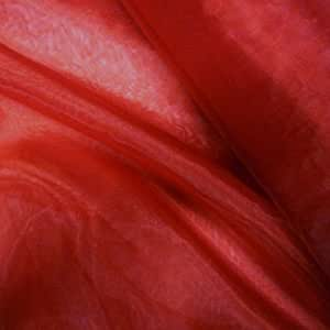 Claret Red Plain Organza (Voile) Fabric (Per Metre) by Nortex Mill