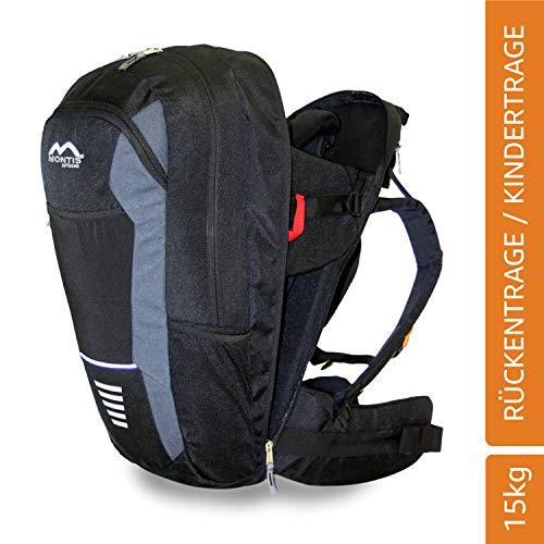 Montis Walk Babytragerucksack (Kindertrage Babytrage Kinder-kraxe Kindertragerucksack Rückentrage Wandertrage Krakse Baby Carrier Rucksacktrage