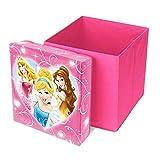 Prinzessin Spielzeugkiste, Prinzessin Aufbewahrungskiste, Prinzessin Hocker pink 31 x 31 x 33 cm