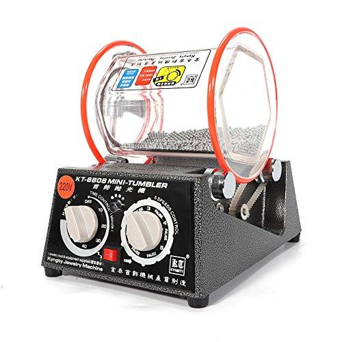 HUKOER Magnetic Polisher Tumbler 100mm Magnetpolierer 4 Speed Control 2000RPM 400g Kapazit/ät zum Polieren komplizierte Details Schleifen und Poliermaschine Schmuck Polieren