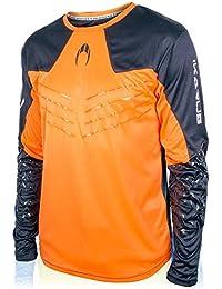 Ho soccer Ikarus Camiseta de Portero Manga Larga, Hombre, Naranja/Negro, M