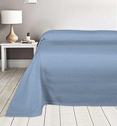 Centesimo web shop copriletto copritutto 2 misure prodotto italia matrimoniale piazza 170x280 cm 260x280 cm copritutto copripoltrona copridivano telo multiuso azzurro mo - 2 piazze azzurro