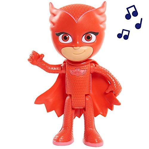 PJ Masks - Súper Figura con Voz, Buhíta, Color Rojo (24857)