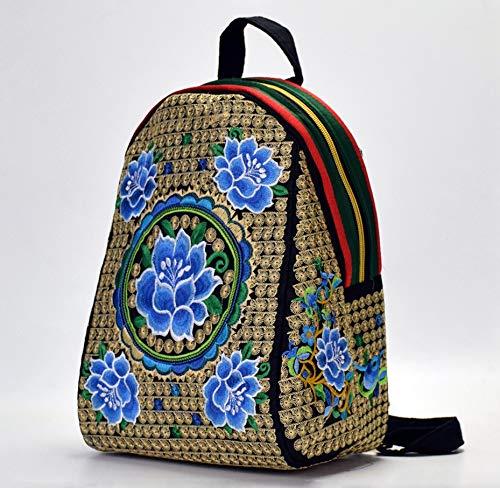 51gfXr70TfL - Beibao shop Mochila China Yunnan Bolso Bordado étnico Lienzo de Doble Cara Mochila Bordado Estudiante Mochila Tamaño 24 * 16 * 32 cm