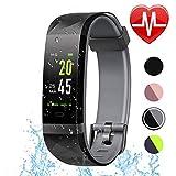 GTGY Fitness Tracker, Pulsmesser, IP68 wasserdicht Smart Watch Schrittzähler, Schlaf-Monitor, Männer und Frauen Kinder