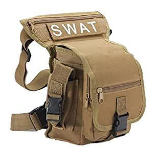 Sac multifonction pack porte ceinture cuisse taille jambepoche velo camping Randonnee sport chasse airsoft montagne combat 5 couleurs (kaki)