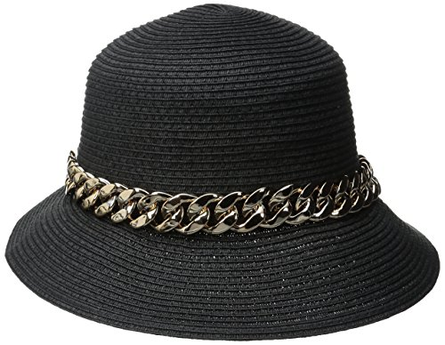 physician-endorsed-womens-orlina-packable-hat-with-asymmetrical-brim-black-gold-one-size