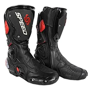 Pro Biker SPEED Motorcycle Sports Racing / Riding Boots Black Size-43