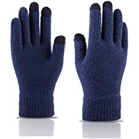 ZXQY Women's winter knit thick warm finger gloves outdoor sports gloves touch screen wool long finger gloves