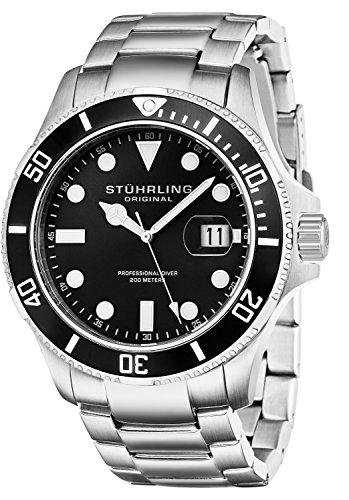 Stuhrling Original 417.02 Herren-Armbanduhr Analog Quarz Edelstahl