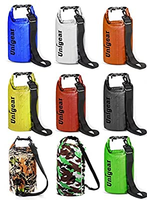 Unigear Dry Bag, Waterproof Bags with Phone Dry Bag and Long Adjustable Shoulder Strap for Boating, Kayaking, Fishing, Rafting, Swimming, Camping and Snowboarding by Unigear