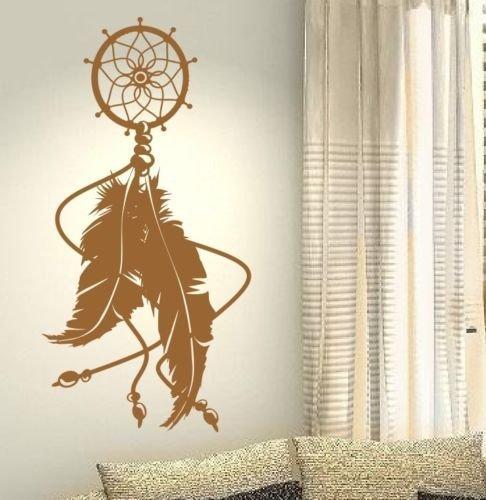 Atrapasueos-Dream-Catcher-de-plumas-de-tnico-Dream-de-su-vida-Dream-Amor-Casa-de-la-familia-juntos-Frase-Pared-Calcomanas-de-vinilo-pegatinas-Art-Decor-DIY
