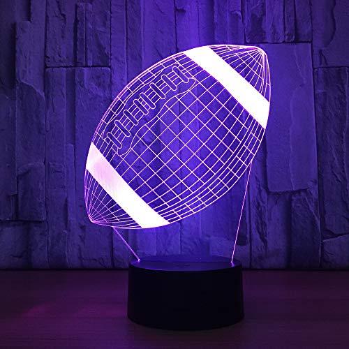 Lampe 3D Sport Rugby American Football Fußball Led 7 Farbe Nachtlicht Booter Kind Baby Nacht Schlafen Geburtstagsfeier Geschenke 3D Nachtlicht