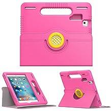 Moko iPad Mini 1/2/3/4 Funda - Niños Ultraligero Funda a Prueba de Choques, Protector Case del Soporte Portátil con 360 Grados en Rotación para Apple iPad Mini 4/3/2/1 7.9 Pulgadas Tabletas, Fucsia