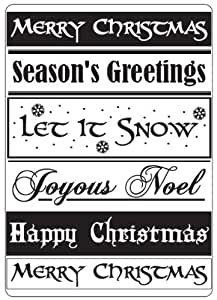 Crafts Too Embossing Folder CHRISTMAS GREETINGS 10.5 x 15cm