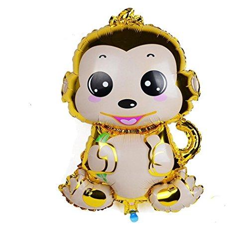 (Murieo Einzigartige Party Ballons,Emoji Party Ballons Party Dekorative für Partys, Geburtstage, Hochzeiten, Feiertage und Besondere Anlässe (Affe(Gold-gelb/ 75 x 48 cm)))