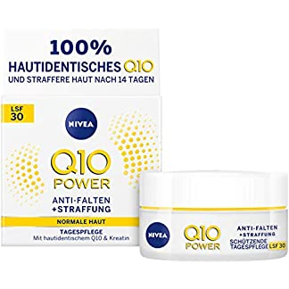 Nivea Q10 Power – Crema de día antiarrugas, protectora y reafirmante, cuidado diario, en un paquete de 1 unidad (1 de 50 ml), crema facial con FPS 30, crema de día para piel lisa y joven