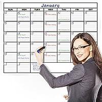 Delane Large Wet and Dry Erase con calendario da muro Planner, 61x 91cm–pezzi di Kit di schiuma inclusi - Dry Erase Calendario