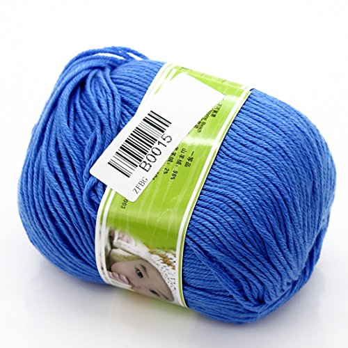 joyliveCY Joystore Baby Garn Knäuel Glatt Kammgarn Superweiches Seiden Naturwolle Fiber 50g Sky Blue (Silk Häkeln)