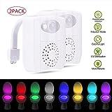 niceEshop(TM) 2Pack UV Sterilisator Aromatherapie Toiletten Nachtlicht, Bewegung Aktiviertes Geführtes Toiletten Sitz Licht mit 16 Änderungsfarben, Sensor Toiletten Schüssel Licht, Das für Jede Mögliche Toilette Sich ändert