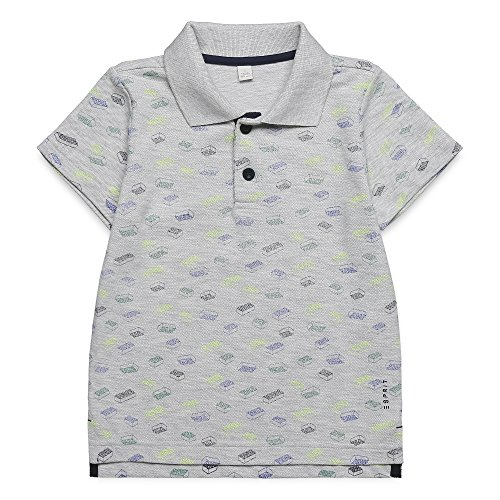ESPRIT Jungen Poloshirt RJ11014 Grau (Light Heather Grey 221), 92 (Mini Piqué-polo-shirt)