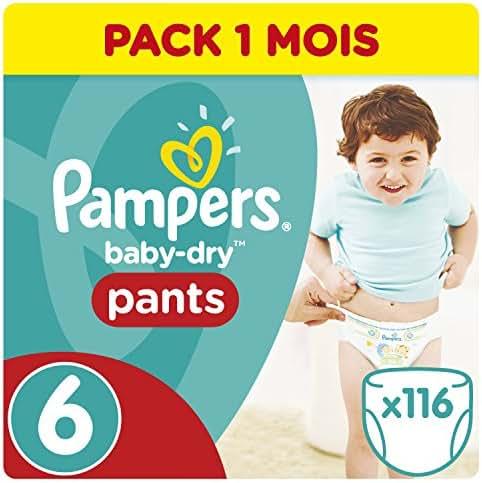 Pampers Baby Dry Pants 116 Couches pour Bébé de + 15 kg/XL Taille 6