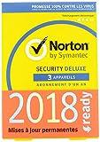Norton Security Deluxe 2019 | 3 Appareils | 1 an |...
