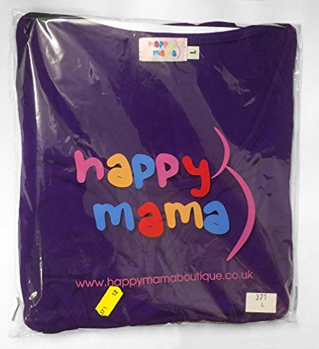 Happy Mama Femme maternité t-shirt grossesse. Tunique top jersey stretch. 973p écru