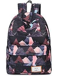 2a8bd96ecfb9e Acmebon Wasserdichte stilvolle Schule Rucksack für Jungen und Mädchen Trend  drucken Zufälliger Laptop Rucksack
