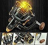 Questquo 14Bb 1000-7000 5.5:1 4.7:1 L/R Hand Gapless Spinning Fishing Reel Line Rod Bait Casting Wheel Loading Trolling Sea Ice Lake Boat Color Black Spool Capacity 1000 Series
