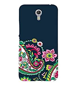 For Lenovo ZUK Z2 Pro floral background, flower, blue background Designer Printed High Quality Smooth Matte Protective Mobile Case Back Pouch Cover by APEX