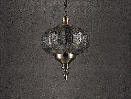 Gbyzhmh nordic retrò ristorante american lampadario indiano orientale del sud-est asiatico lampade in metallo lampadario lanterna (dimensione : 36*36*45cm)