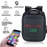 Explopur Rucksack Mobile Fernbedienung Inhalt ändern Intelligente LEDs Fashion Laptop Schultasche
