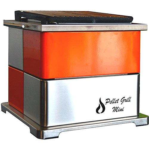 Rustiluz Barbacoa de Pellet Grill Mini Naranja