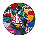 Goebel 66451271 Girl with Snake Wandteller, Porzellan, bunt, 36 x 36 x 3 cm