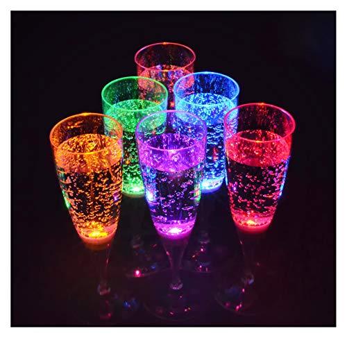 s im Set leuchtende Sektgläser LED beleuchtetes Party Trinkglas Geburtstag Silvester Hochzeit Einweihung Kunststoffglas Partyglas 150 ml von der Marke PRECORN ()