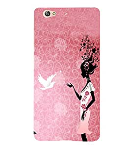 PrintVisa Grafitti Girl 3D Hard Polycarbonate Designer Back Case Cover for Gionee S6
