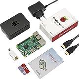 Globmall ABOX Raspberry Pi 3 Modello B Starter Kit con 32GB Micro SD Card, Black Case e Power Supply con Switch immagine