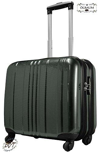 Hardcasekoffer Pilotenkoffer-Setangebot Flugkoffer/ Flugreise Zubehör Piloten-Trolley /-koffer silber, robuster XXL Außendienst-Koffer standfest, Business- &...