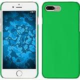 PhoneNatic Case für Apple iPhone 8 Plus Hülle grün gummiert Hard-case für iPhone 8 Plus + 2 Schutzfolien