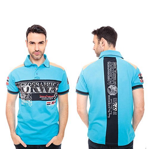 Geographical Norway Polo - Homme - Turquoise - XL