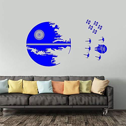 guijiumai Decalcomania da Muro della Morte Nera Endor Battle X Wing Fighters Sticker Battle Decor X Wing Fighters Pattern Teen Dorm Deco C 3 98x57cm