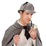 NET TOYS Detektiv Kostüm Set bestehend aus Lupe, Pfeife und Mütze Sherlock Holmes Verkleidung Agent Schnüffler Outfit