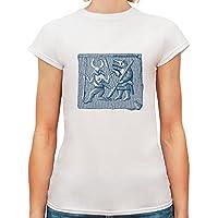 T-shirt da donna con Disegno egiziano stampa.