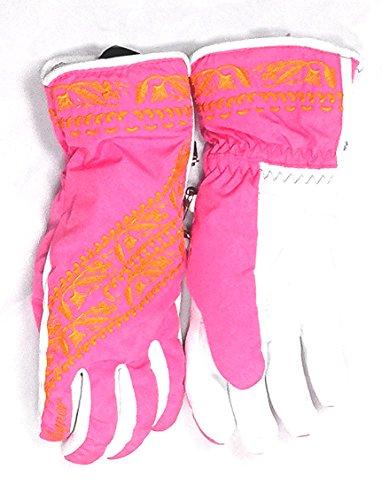 Damen Skihandschuhe Kanani 6,5 rosa weiß Bogner